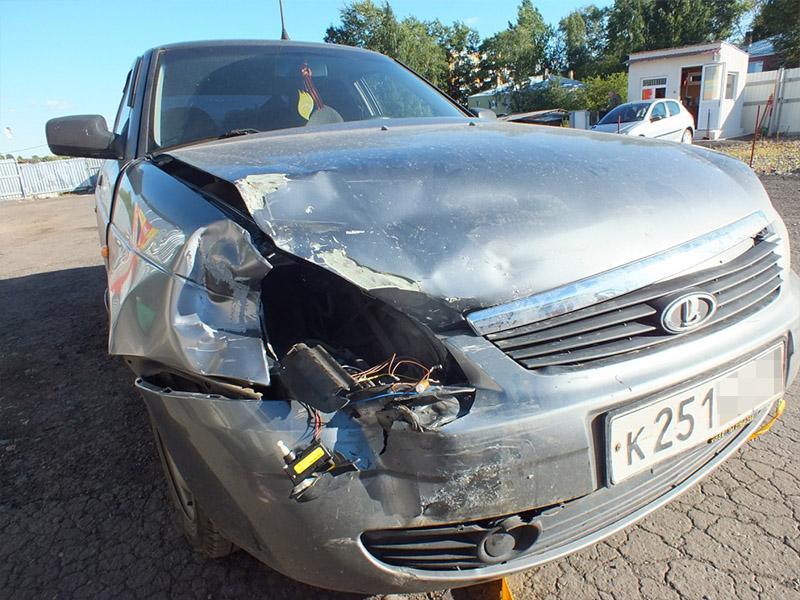 Фото машины после дтп